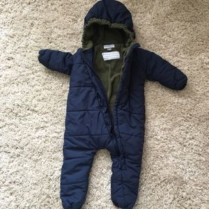 One Step Ahead bundting snowsuit😊